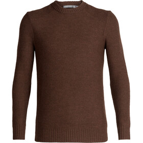 Icebreaker Waypoint Crewe Sweater Men bronze heather